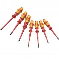 Комплект отвертки 160 iSS/7 Kraftform Plus Serie 100 с изтънено стебло и ръкохватка / 05135961001