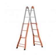 Стоманена телескопична стълба GIERRE A0040, стъпала 4+4, Височина 1.15м