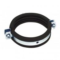 """Метална скоба с EPDM гума 32-36мм / цол 1"""", Свързваща гайка M8"""