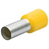Изолирани гилзи 6 мм2 (100 бр.) жълти / 9799336