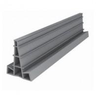 Профил фуга за шлайфан бетон 40мм - сив (цена за 15м)