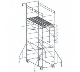 Подвижно безболтово скеле, метално 1200 / 2630мм, Раб. височина 4м