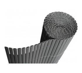 PVC покривало за огради, балкони и тераси модел Бамбук - двойни ламели H=1.0 x L=3.0 m Цвят сив